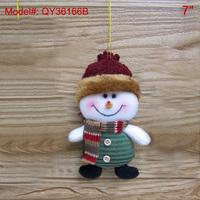 "7"" Christmas Ornaments Xmas Tree Decoration Santa Gifts Decor Puppets-Snowman"