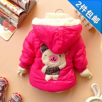2013 girls clothing baby long-sleeve embroidered cardigan coat  child top all-match outerwear children jackets free shipping