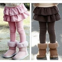 2013 autumn & winter children long trousers  baby legging  pants culottes full length children's pantskirts