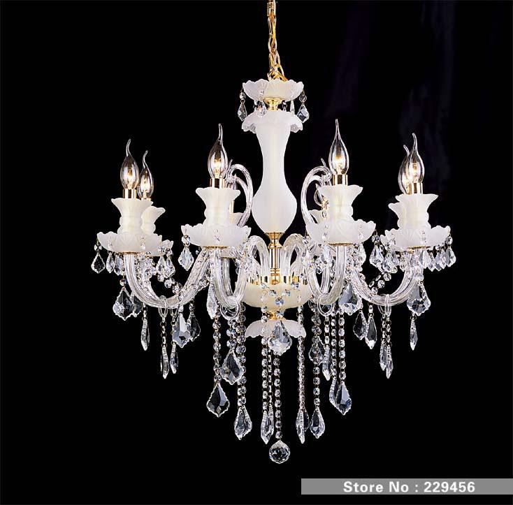 lampadine candela europeo di cristallo satinato lampadari a soffitto ...