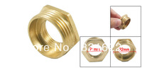 "1"" NPT Male to 1/2"" PT Female Brass Hex Bushing Pipe Reducer Connector"
