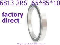 Factory Direct High quality miniature deep groove ball bearing 6813 2RS   61813 2RS 6813 bearing 65*85*10 mm 4pcs/lot