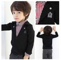 Free Shipping 2013 Summer Autumn Kids  t shirt,children Long Sleeve T-shirt Boys 100% cotton T shirt Retail