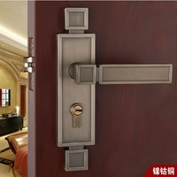 Chinese antique LOCK Nickel, cobalt and copper Door lock handle  Free Shipping(3 pcs/lot) pb22