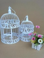 Fashion iron birdcage white small bird cage decoration hanging bird cage Large wedding props