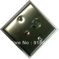 Stainless Steel Switch With Key and LED       Eixt switch