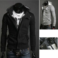 Free Shipping 2013 New ARRIVE Men's Fashion Hoodies Sweatshirts autumn Wild fashion casual long-sleeved hooded cardigan jacket