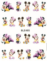 Nail Art Sticker,3D Design Nail Art Seal Hundreds design Cute Cartoon Mickey Mouse water Nail Art Sticker Decal Makeup Tips