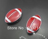 50pcs 8mm  football can go through 8mm  wristband/ pet collar/ key chain