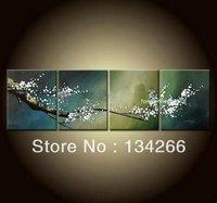 Framed!!! Abstract Asian Zen Plum Blossom Oil Painting