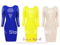 2013 New Free Shipping Hot Sale Sexy Celebrity Women Boutique Ladies BodyCon Bandage Party Cocktail Dress CB588