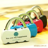 2013 Super hotting! Mini diary lock bags lock bags anti-theft lock alloy lock  ~Free shipping