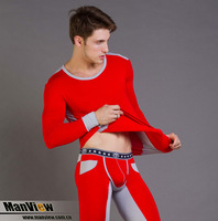 Beauty care 2013 male modal thermal underwear thermal underwear set men's male red