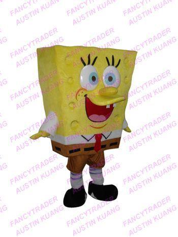 Cute Spongebob Mascot Costume Adult Size FT20144(China (Mainland))