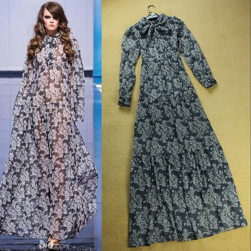 Designer long sleeve dresses