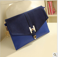 Promotional new Ms. retro fashion envelope bag clutch matte paper bags stuffed messenger bags Free shipping