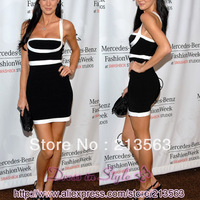 2013 New Free Shipping Hot Sale Sexy Celebrity Women Boutique Ladies BodyCon HL Bandage Party Cocktail Dress CB593