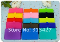 Free Shipping I-SATSU silicone business card case ,10colors mixed ,100pcs/lot