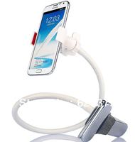 White Color Lazy Bed Car Mount Kit Holder for Cell Phone Navigation Camera apple MP3 MP4 GPS