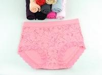 5PCS/Lot High Quality FemalE Underwear Lady High Waist Large Size Bamboo Fiber Briefs Lace Panties U222