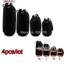 free shipping 4pcs/lot Matin Soft C4PCS Matin Camera  Lens Case Bag Waterproof Bag Size S M L XL  for canon nikon sony