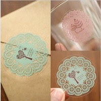 Free Ship(1000pcs/lot)  Round Lace Lovely Adhesive Sticker Tape for Crafts DIY Decor,DIY Sticker for Scrapbook Diary&Photo Album