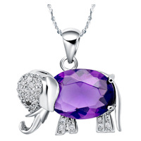 18KGP-N148 Free Shipping 18K Gold Plated Rhinestone Crystal Elephants Pendants For Necklace Accessories for Jewelry The Gifts