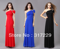 New Fashion Woman One Shoulder Sexy Long Formal Evening Dresses Festival party Evening Dress LF010