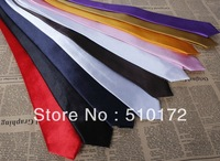 36 color Hot sell Men's ties necktie solid color 5 cm slim ties Polyester+silk casual ties ties Free shipping 500pcs/lot