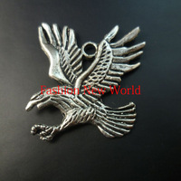 New Promotion!!!  10pcs eagle silver Antique  Metal charms  fashion making cp0539
