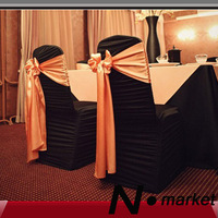 2013 black fold spandex plain polyester material chair covers for weddings dinning