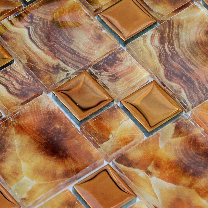 Glass Tile Backsplash Crackly Rock Mosaic Tiles Porcelain Liner Wall Fireplace Border Tile Bathroom Designs Floor Sticker BLH007(China (Mainland))