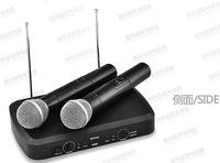 Free shipping wireless microphone with 2pcs wireless microphone