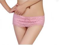 5PCS/Lot High Quality Underwear Lady Mid Waist Bamboo Fibre Lace Briefs Women Panties U225