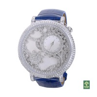 Ladies watch rotating gear fashion rhinestone strap table 30149