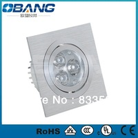 6PCS /lot 2013 downlight led square 3w With 2years Warranty,,Free Shipping led ceiling white square shell with CE.EMC&RoHS