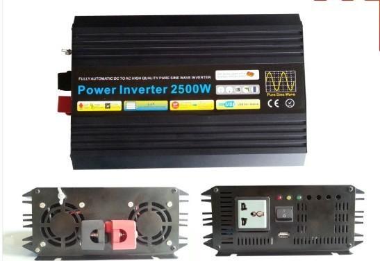 2500w/5000w pure sine wave power inverter DC 24V to AC 110V 60Hz solar wind battery home power supply(China (Mainland))