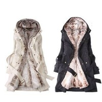 2012 winter thermal disassembly wool liner wadded jacket cotton-padded jacket plus size outerwear female
