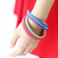 Piece set fashion hand ring sweet candy color bracelet hand ring female bohemia multi-layer bracelet