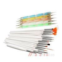 20pcs Nail Art Design Set Dotting Painting Drawing Polish Brush Pen Tools M3AO