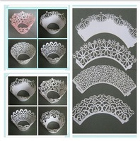 Free Shipping! 1000 pcs/dot 10 styles Cupcake stands,Cupcakes Packaging,Laser cut cupcake wrappers, Lace cupcake wrappers