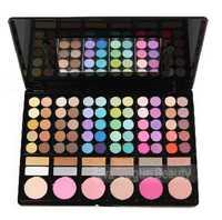 Wholesale 6pcs/lot  Pro 78#1 Color Makeup Eyeshadow Palette 72 Color Eyeshadow+6 Blush Eye Shadow make up Palette Set
