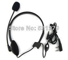8pcs/lot 2 PIN Headphone Headset Mic TK220 For KENWOOD Radios Walkie talkie two way CB Ham Radio C081