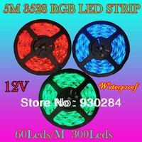 5M 3528 RGB 60D/M Waterproof IP65 300Leds Komplettset Luci Lampade A Led Strips Super Bright Bead Leisten Led Band Selbstklebend