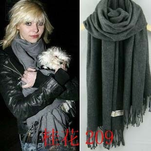 2013 Hot Sale  autumn and winter general Dark gray cashmere wool scarf cape thick  Free Shipping