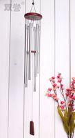 Pair japanese style wind chimes hangings door trim 82cm imitation mahogany 6 tube aluminum pipe metal wind chimes rustic