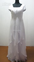 Stunning Chiffon Fabric Cap Sleeves Neckline Sheath Cap Sleeves Wedding Dress