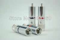 HIFI Club wholesale online HIFI DIY RCA plugs Hiend Rhodium plated RCA audio connector