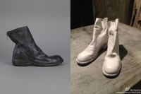 New arrival 2014 guidi handmade leather thick heel back zipper short boots