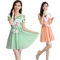2013 new fashion Woman clothing 2013 summer women's fairy chiffon one-piece dress  free shipping